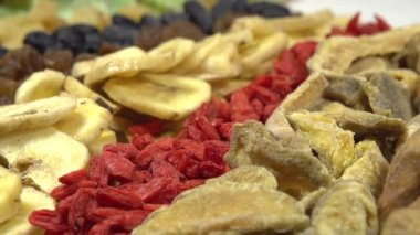 Variety of Dried Fruits and Berries. — Stock Video