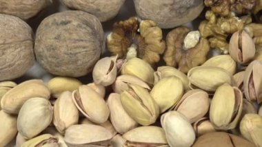 Good Nutrition of dried nuts — Stock Video