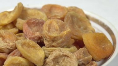 Dried Apricots in a Bowl — Stock Video