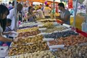 Street fair tend of hand made candies — Stock Photo