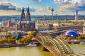 Aerial view of Cologne — Stock Photo