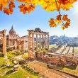 Roman ruins in Rome, Forum — Stock Photo #53840503