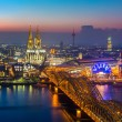Cologne at dusk — Stock Photo #54367577