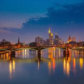 Frankfurt à noite — Foto Stock
