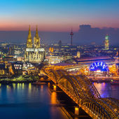 Cologne at dusk — Stock Photo