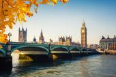 Big ben und häuser des parlaments, london — Stockfoto