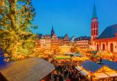 Christmas market in Frankfurt — Stock Photo