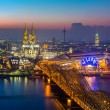 Cologne at dusk — Stock Photo #57233555
