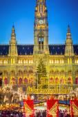 Rathaus en kerstmis markt in wenen — Stockfoto