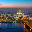 Cologne at dusk — Stock Photo #64830413