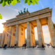 Brandenburg gate at sunset — Stock Photo #67665107