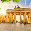 Brandenburg gate at sunset — Stock Photo #67665117