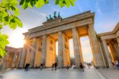 Brandenburg gate at sunset — Stock Photo