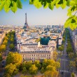 View on Paris at sunset — Stock Photo #68211115