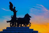 Goddess Victoria riding on quadriga, Rome — 图库照片