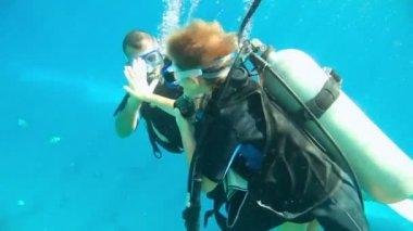 Scuba diving course — Stock Video