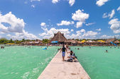Balneario Magico in Bacalar lagoon, Mexico — Stock Photo