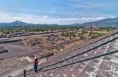Teotihuacan, ruínas astecas, méxico — Foto Stock