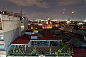 Night view of skyline in Mexico City — Stock Photo