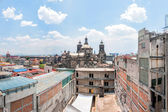 Day view of Mexico City downtown from roofs — Stock Photo
