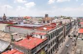 Day view of Mexico City zocalo from roofs — Stock Photo