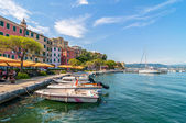 Fezzano small town and harbor near Portovenere, Liguria, Italy — Stock Photo