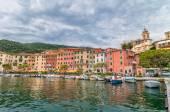 Fezzano small town and harbor near Portovenere, Liguria, Italy — Zdjęcie stockowe