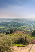 Panoramic view of Florence from Fiesole. Tuscany, Italy — Stock Photo