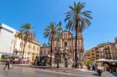 La place San Domenico et église à Palerme, Italie — Photo