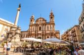 San Domenico square and church in Palermo, Italy — Stock fotografie