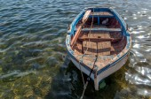Small boat in mediterranean sea, Sicily — Stock Photo