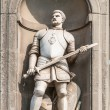 Постер, плакат: Statue of Giovanni dalle Bande Nere outside Uffizi Gallery in Florence