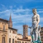 Neptune statue in Piazza della Signoria - Florence, Italy — Stock Photo #66418237