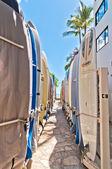 Prkna na Waikiki Beach, Hawaii — Stock fotografie