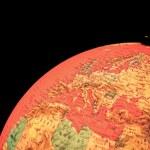 Terrestrial globe on black background — Stock Photo #71518055