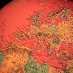 Terrestrial globe on black background — Stock Photo #71519059