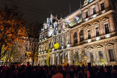 Festival of lights in Lyon — Stock Photo