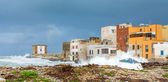 Harbor and waterfront in Trapani, Sicily — Stock Photo