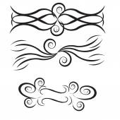 Pencil draw by hand vectors, filigrams , spirals, curls filigree — Stock Vector