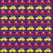 Simple car pattern — Stock Vector