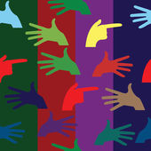Hand pattern — Stock Vector