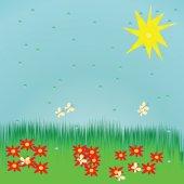 Seamless summer background — Stock Vector