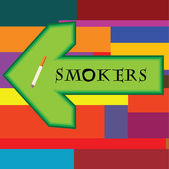 Banner for smokers — Stock Vector