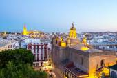 Seville Cathedral and cityscape — Stock Photo