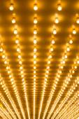 Golden bulbs marquee lights — Stock Photo