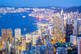 Aerial Hong Kong Cityscape  — Foto Stock
