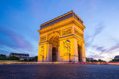 Arc of Triomphe Champs Elysees Paris — Stock Photo