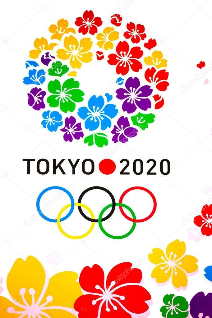 affiche de 2020 jeux olympiques d 39 t photo ditoriale 52671639. Black Bedroom Furniture Sets. Home Design Ideas
