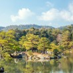 Panorama Kinkakuji Temple Kyoto — Stock Photo #55064727