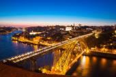 Dom Luiz bridge in Porto Portugal — Stock Photo